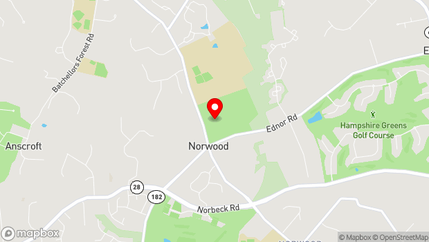Google Map of 16501 Norwood Road, Sandy Spring, MD 20860