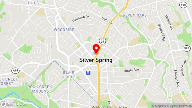Google Map of 8656 Colesville Road, Silver Spring, MD 20910