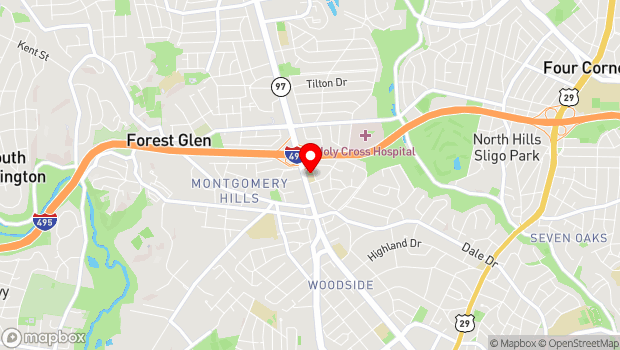 Google Map of 9545 Georgia Ave, Silver Spring, MD 20910