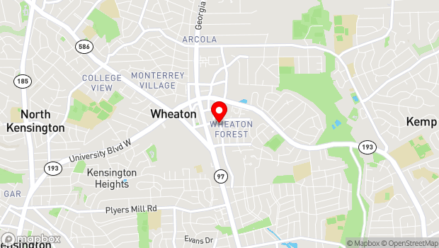 Google Map of 11200 Amherst Ave, Wheaton, MD 20902
