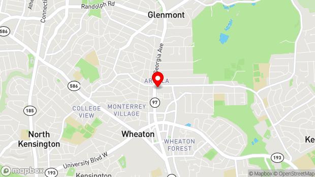 Google Map of 2400 Arcola Avenue, Wheaton, MD 20902