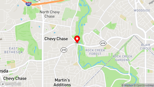 Google Map of 8490 Jones Mill Road, Chevy Chase, MD 20815