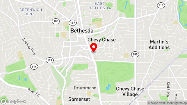 Google Map of 4508 Walsh St., Chevy Chase, MD 20815