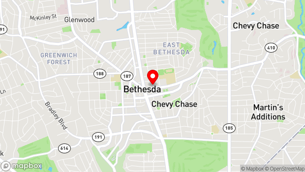 Google Map of 4545 East West Highway, Bethesda, MD 20814