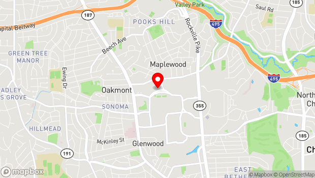 Google Map of Bethesda, MD 20814