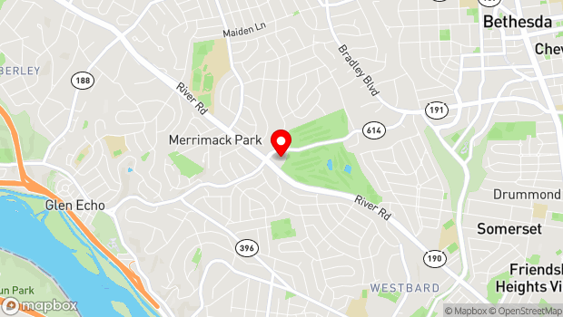 Google Map of 5910 Goldsboro Road, Bethesda, MD 20817
