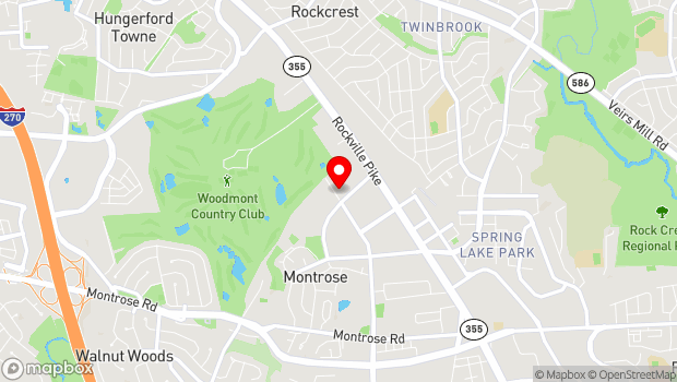 Google Map of 1570 E Jefferson Street, Rockville, MD 20852
