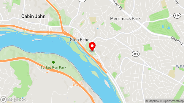 Google Map of 7300 MacArthur Blvd, Glen Echo, MD 20812