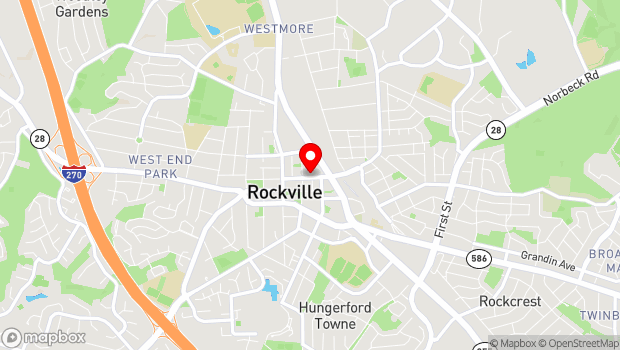 Google Map of 200 E Middle Lane, Rockville, MD 20850