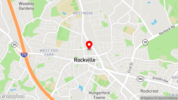 Google Map of 21 Maryland Ave, Rockville, MD 20850