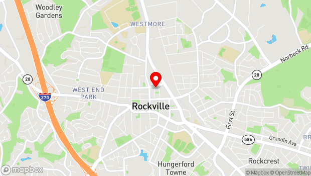 Google Map of 155 Gibbs St., Rockville, MD 20850