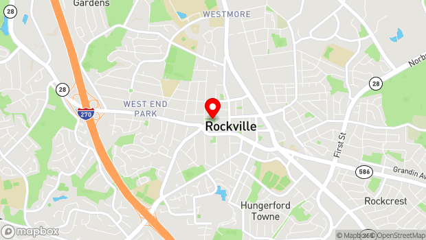 Google Map of 103 W. Montgomery Ave., Rockville, MD 20850