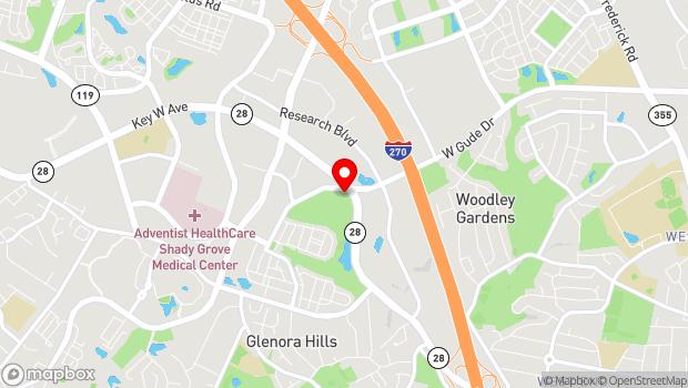 Google Map of 700 Fallsgrove Dr, Rockville, MD 20850