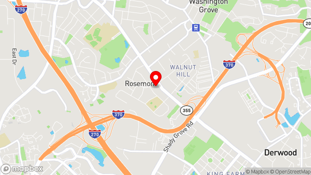 Google Map of 9008 Rosemont Drive, Gaithersburg, MD 20877