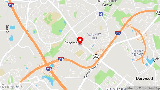 Google Map of 9008 Rosemont Drive, Gaithersburg, MD 20877