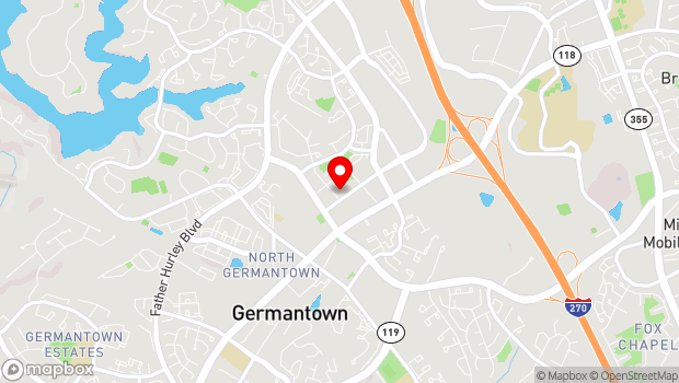 Google Map of 12901 Town Commons Drive, Germantown, MD 20874