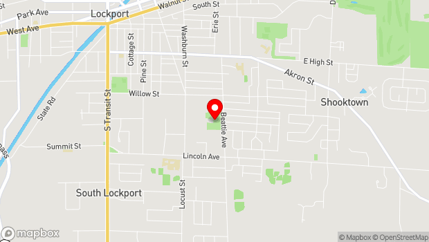 Google Map of 433 Locust St., Lockport, NY 14094