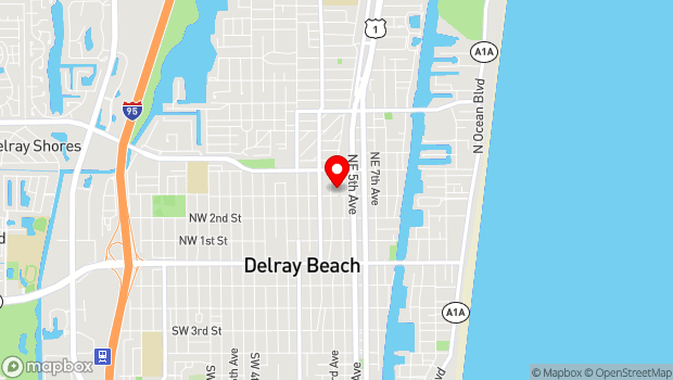 Google Map of 313 NE 3rd St, Delray Beach, FL 33444