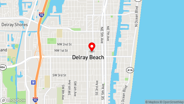 Google Map of 94 NE 2nd Avenue, Delray Beach, FL 33444