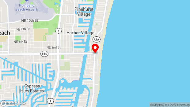 Google Map of Atlantic Boulevard and A1A, Pompano Beach, FL 33062