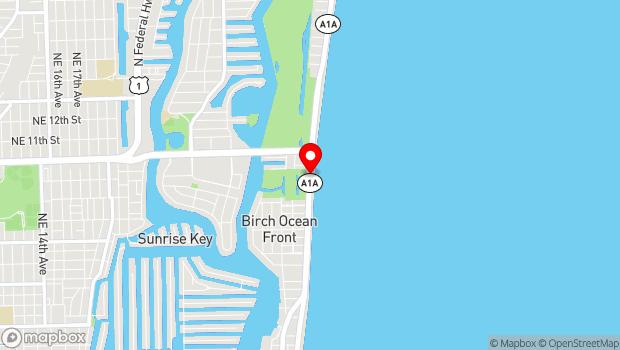 Google Map of 870 North Fort Lauderdale Beach Boulevard, Fort Lauderdale, FL 33304