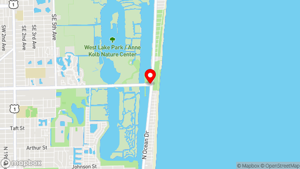 Google Map of 751 SHERIDAN STREET, Hollywood, FL 33019