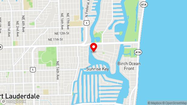 Google Map of Fort Lauderdale, FL 33304