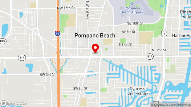 Google Map of 41 NE 1st Street, Pompano Beach, FL 33060