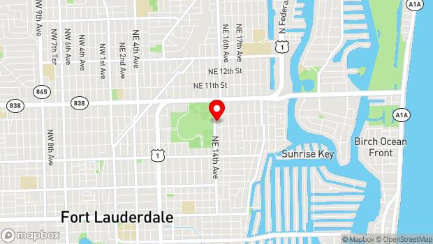 Google Map of 815 NE 15 Avenue, Fort Lauderdale, FL 33304