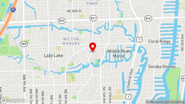Google Map of 2304 N. Dixie Hwy., Wilton Manors, FL 33305