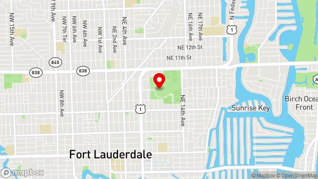 Google Map of 800 Northeast Eighth Street, Fort Lauderdale, FL 33304