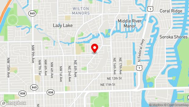 Google Map of Middle River Terrace, Fort Lauderdale, FL 33304