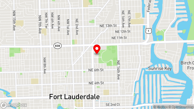 Google Map of 707 Northeast Eighth Street, Fort Lauderdale, FL 33304