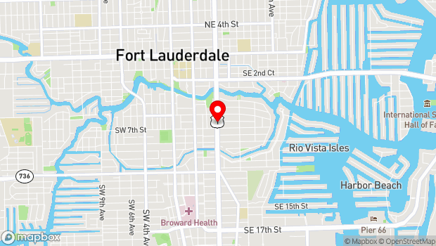 Google Map of Between A1A and South Federal Highway, Fort Lauderdale, FL 33301