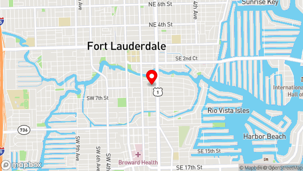 Google Map of 503 Southeast Sixth Street, Fort Lauderdale, FL 33301