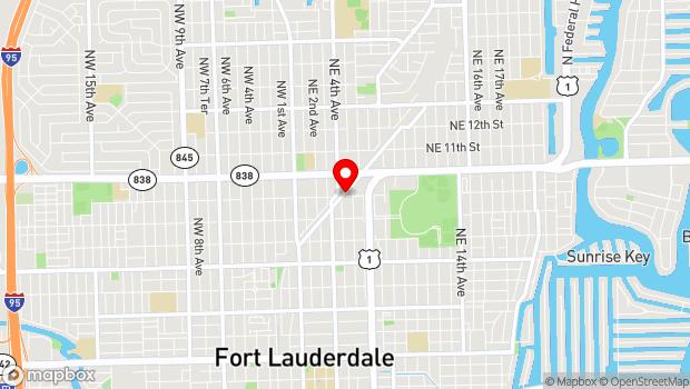 Google Map of 900 North Flagler Dr, Fort Lauderdale, FL 33304