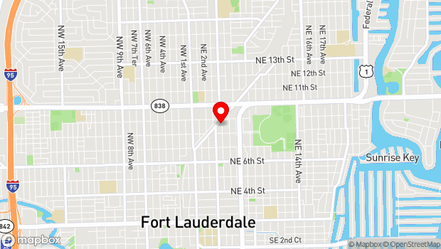 Google Map of 833 NE 4th Ave, Fort Lauderdale, FL 33304