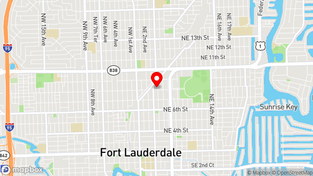 Google Map of 807 NE 4th Ave, A, Fort Lauderdale, FL 33304