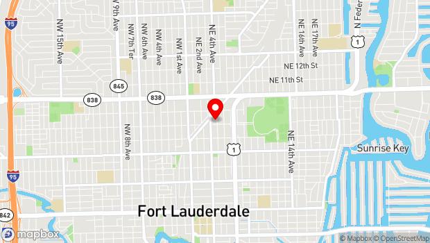 Google Map of 807 NE 4th Ave, Fort Lauderdale, FL 33304