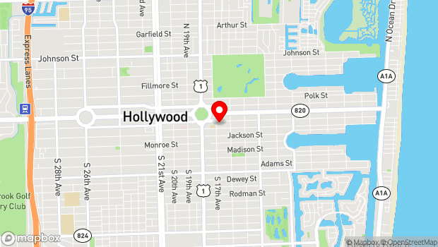 Google Map of 1650 Harrison Street, Hollywood, FL 33020