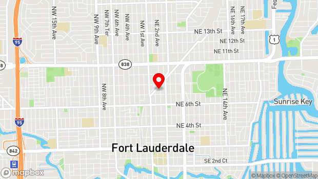 Google Map of 723 NE 2nd Ave, Fort Lauderdale, FL 33304