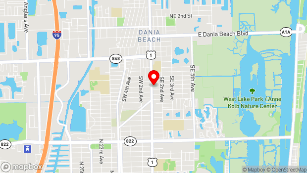 Google Map of 481 South Federal Hwy, Dania, FL 33004