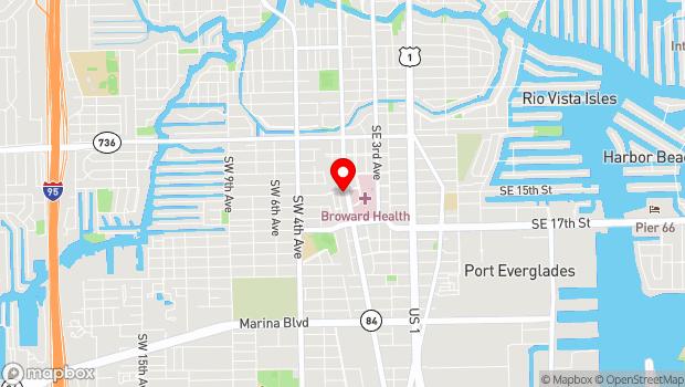 Google Map of 1501 S. Andrews Avenue, Fort Lauderdale, FL 33316