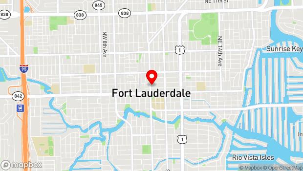 Google Map of City of Fort Lauderdale, Fort Lauderdale, FL 33301