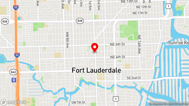 Google Map of 435 N Andrews Avenue, No. 2, Fort Lauderdale, FL 33301