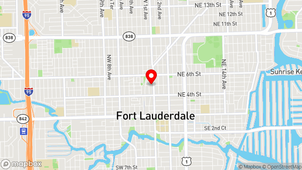 Google Map of 17 NW 5th St, Fort Lauderdale, FL 33301