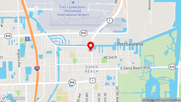 Google Map of 303 N Federal Highway, Dania, FL 33004