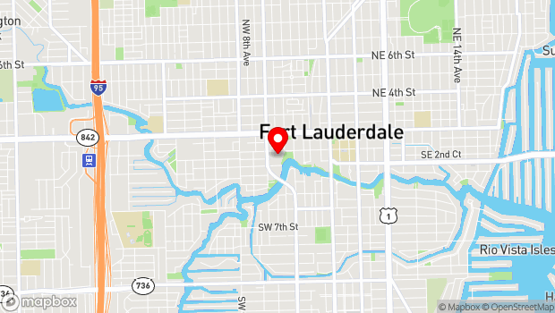 Google Map of 201 Southwest 5th Avenue, Fort Lauderdale, FL 33312