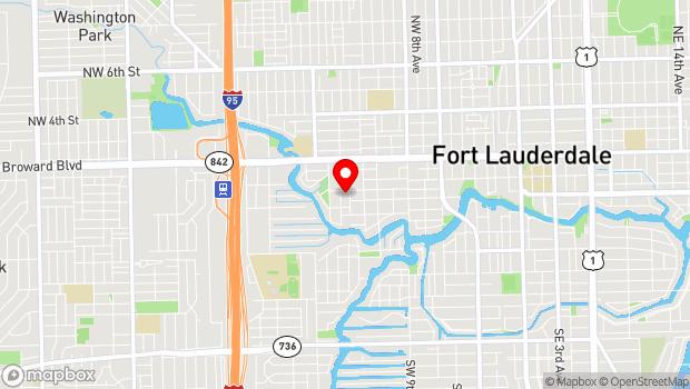 Google Map of 1310 Southwest Second Court, Fort Lauderdale, FL 33312
