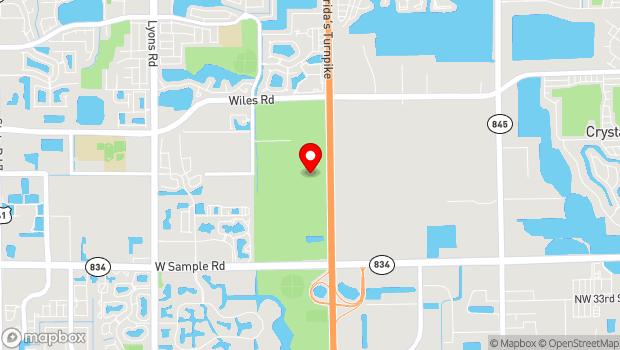 Google Map of 3600 West Sample Road, Pompano Beach, FL 33073